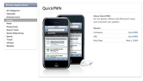QuickPwn en la web de Apple
