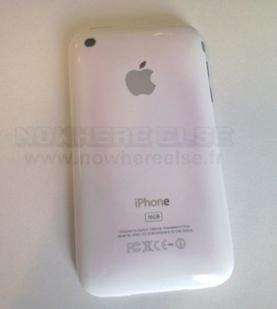 iPhone 3GS blanco amarilleado