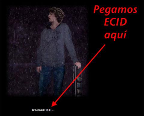 Pegamos el ECID aquí