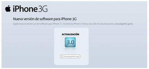 El iPhone OS 3.0 llega un poco tarde
