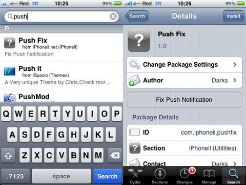Push fix