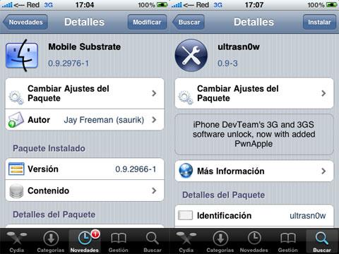 Ultrasn0w 0.9 y MobileSubstrate