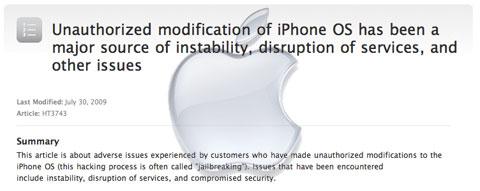 Apple habla del jailbreak