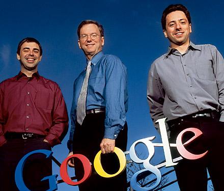 Eric con los fundadores de Google
