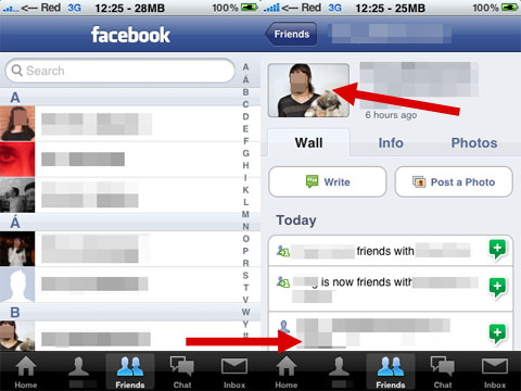 Importa las fotos de los contactos de Facebook en el iPhone