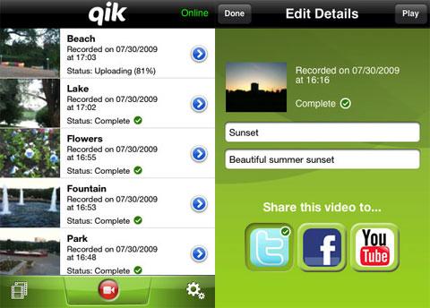 Qik en la App Store