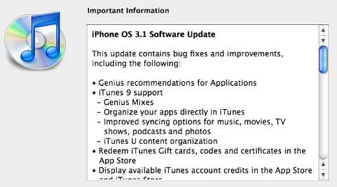 iPhoneOS 3.1