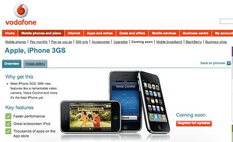 iPhone de Vodafone UK