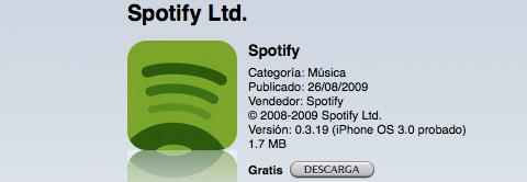 Spotify en la App Store