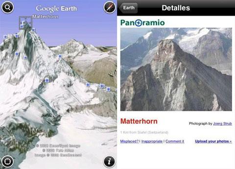 Google Earth 2.0 en el iPhone