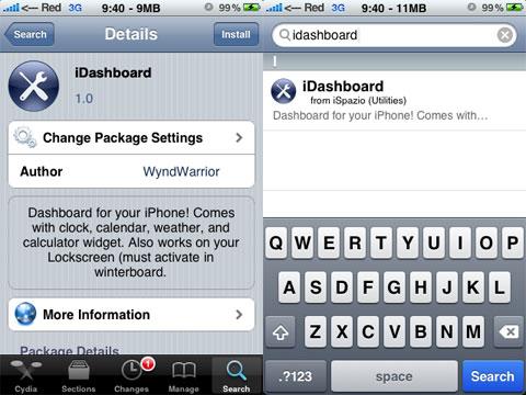 iDashboard en el iPhone