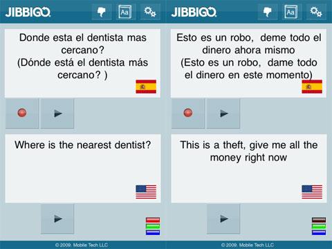 Jibbigo funcionando muy bien ;)