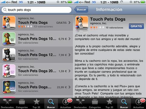 Mascotas virtuales en tu iphone