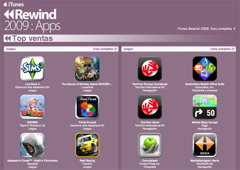 iTunes Rewind 2009