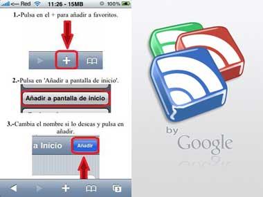 Google Reader sin interfaz de Mobile Safari