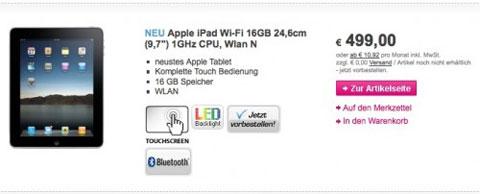 Precios del iPad en Alemania