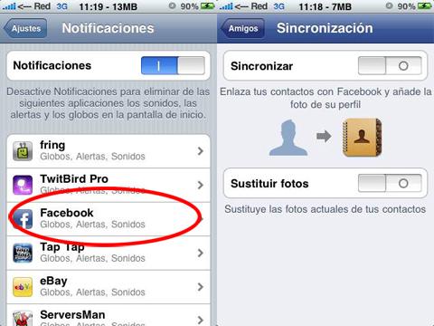 Facebook con notificaciones