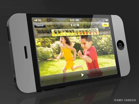 Concepto de iphone 4g de Isamu Sanada
