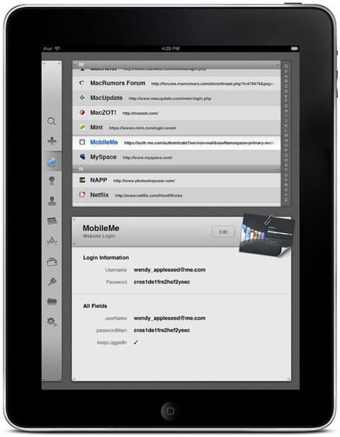 1Password en el iPad
