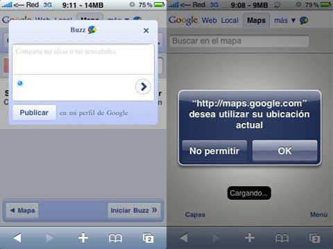 Buzz en el iPhone