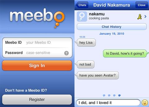 meebo en el iPhone