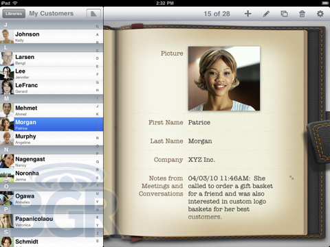 Pantallazos del iPad