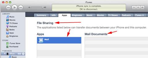 Compartir ficheros desde iTunes