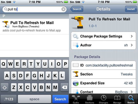 Pull to Refresh for Mail
