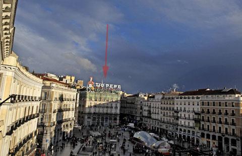 Localización de la Apple Store en la Puerta del Sol de Madrid