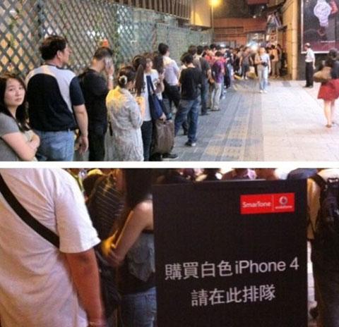 Colas en Hong Kong, para comprar el iPhone 4 blanco