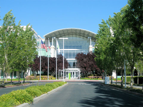 Oficinas de Apple en Cupertino (entrada)