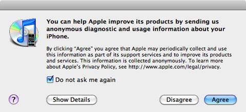 Permiso que pide iTunes