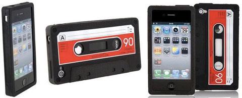 Cintas de Cassette como carcasas para el iPhone 4