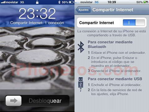 Tethering en el iPhone 3GS