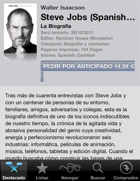 la biografía oficial de steve jobs llega a ibooks en iphoneros