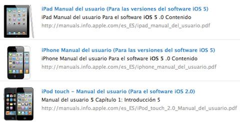 Manuales en Español de iOS 5