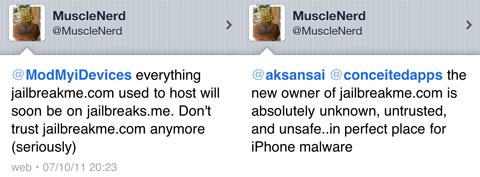 Musclenerd avisa de que jailbreakme ya no es seguro.