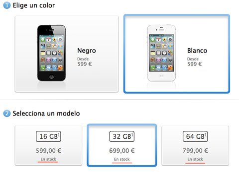 iPhone 4S en stock