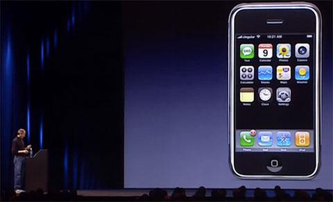 Presentación del iPhone original en 2007