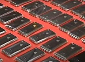 iPhones de contrabando