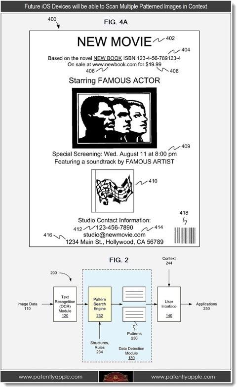Patente de reconocimiento de imagen de Apple