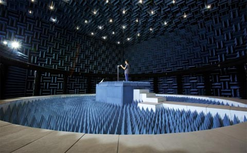 Sala de pruebas de antenas