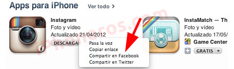 Integración con Facebook en iTunes