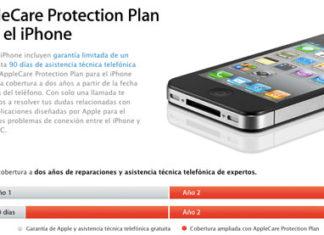 Información sobre Apple Care en la web de Apple