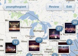 Mapa en Instagram