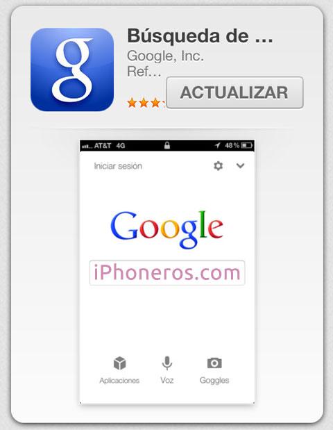 App de Google lista para ser actualizada