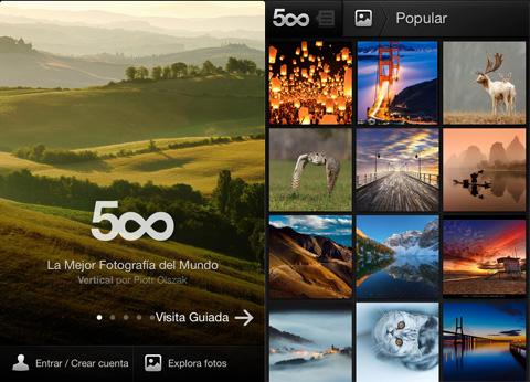 500px para iPhone