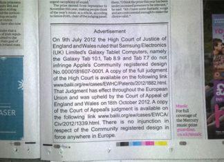 Anuncio de Apple en el Guardian