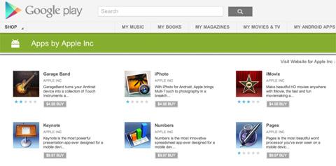 Apps de Apple en Google Play