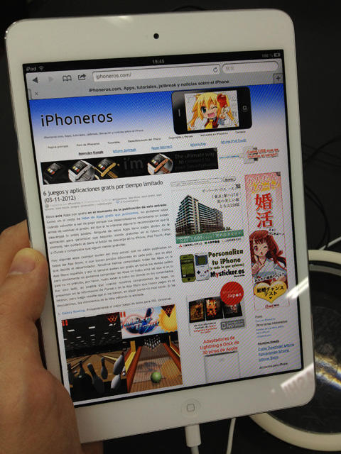 iPad mini con iPhoneros.com cargada
